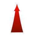 sign red arrow up isolated on vector image