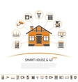 Smart House and internet of things concept vector image vector image