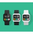 Smart watch set smartwatch vector image vector image