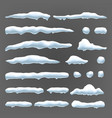 snow caps snowball and snowdrift winter vector image vector image
