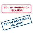 South Sandwich Islands Rubber Stamps vector image vector image