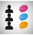 speech dialog people eps vector image vector image