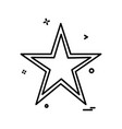 star icon design vector image vector image