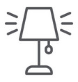 table lamp line icon appliance and furniture vector image