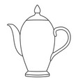 teapot outline isolated on vector image vector image