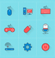 technology icons icon set in flat design style vector image vector image