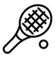 tennis icon outline style vector image vector image