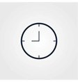 Time clock icon simple vector image