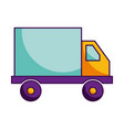 truck delivery transport isolated image vector image