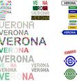Verona text design set vector image vector image