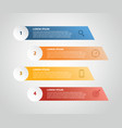 vertical label infographic with 4 step with icon vector image