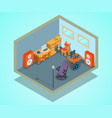 video editing concept banner isometric style vector image vector image