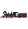 vintage american wild west steam locomotive vector image vector image