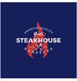vintage bbq grill barbecue barbecue logo design vector image vector image