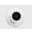 white coffee cup object isolated on transparent vector image vector image