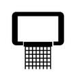 black icon basketball hoop vector image