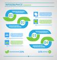 Modern eco infographics elements vector image