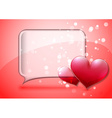Valentine speech bubble card vector image