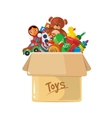 cardboard box for children vector image