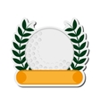 golf emblem icon vector image