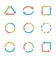 Coloured arrow set vector image