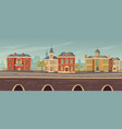 19th century town street with european buildings vector image vector image