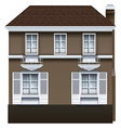A big concrete building vector image vector image
