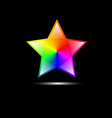 abstract colorful star shape vector image vector image