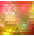 Abstract geometric triangle background vector image vector image
