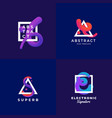 abstract signs or logo templates set elegant vector image