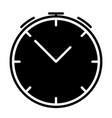 alarm clock silhouette icon symbol vector image vector image