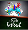 back to school design with colorful pencil brush vector image