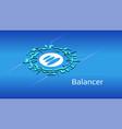 balancer bal isometric token symbol defi vector image vector image
