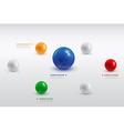 balls infographic 4 vector image