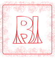 BI monogram vector image vector image