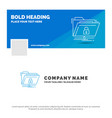 blue business logo template for encryption files vector image