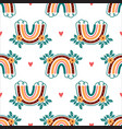 boho rainbow pattern abstract rainbows in cartoon vector image vector image