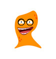 cartoon flat happy monsters orange icon colorful vector image