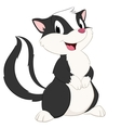 Cartoon Skunk vector image vector image