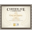 Certificate of completion template movie theme vector image vector image