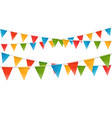 color flags garland template for a text vector image