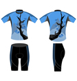 Cycling vest style vector image vector image