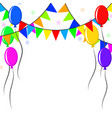 decorative colorful balloons and pennants over vector image vector image