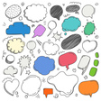 Different sketch style speech clouds collection vector image vector image