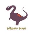 doodle cute dinosaur vector image vector image