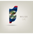 Flag of BELIZE as a country with a shadow vector image