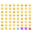 flat emoticon emoji happy smiling yellow faces vector image