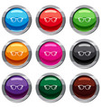 glasses set 9 collection vector image vector image