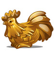 golden figure of rooster chinese horoscope symbol vector image vector image