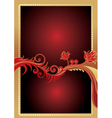 golden gift card vector image vector image